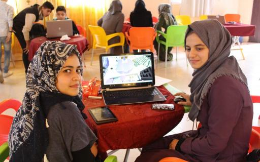Utilizing Minecraft as a tool for community participation to design a public space in Gaza Strip © UNHabitat